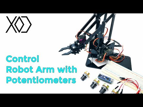 08# Arduino Visual Programming | Robot Arm  Control with Potentiometers | XOD