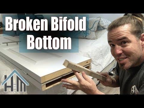 how to repair broken bifold door, top or bottom. Easy!