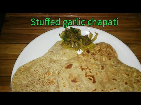 stuffed garlic chapati | lactating moms boost milk supply and stay healthy