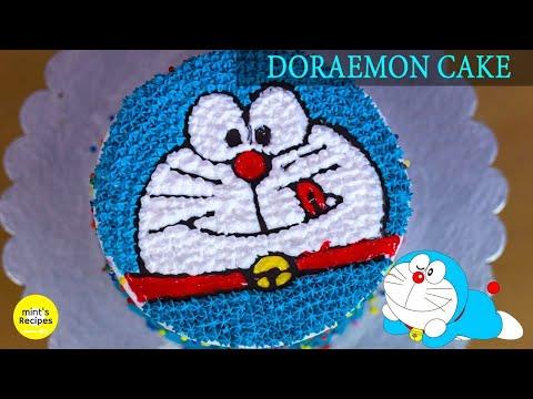 डोरेमोन केक बनाने की बहुत ही आसान विधि | Cake Decoration Recipe In Hindi | Mintsrecipes