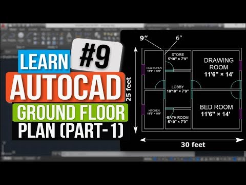 Autocad Tutorial In Hindi || How To Make Ground Floor Plan || Assignment 2