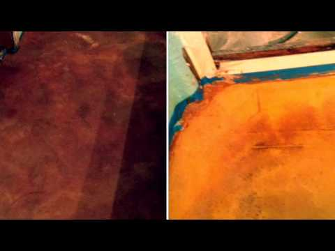 Acid Staining Floors Demonstration by Ken's Custom Designs