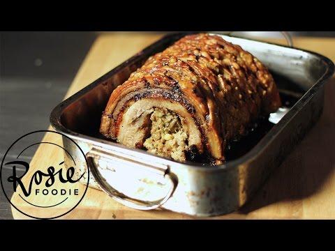 Festive Stuffed Porchetta Pork Roast | Rosie Foodie