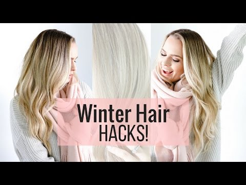 5 Winter Hair Hacks - tips and tricks for cold weather!