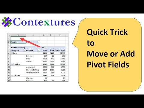 Quick Trick to Add or Move Excel Pivot Fields