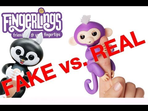 Amazon Fake vs Real Fingerlings - Buyer Beware Comparison and Review