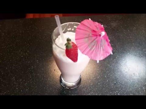 Apple Strawberry Milkshake in Telugu