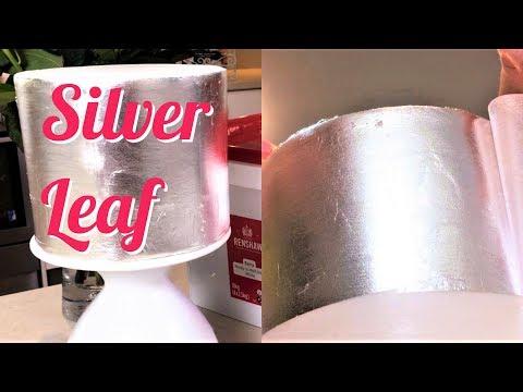 Metallic Mirror Cake with Edible Silver Leaf by Alisha Henderson