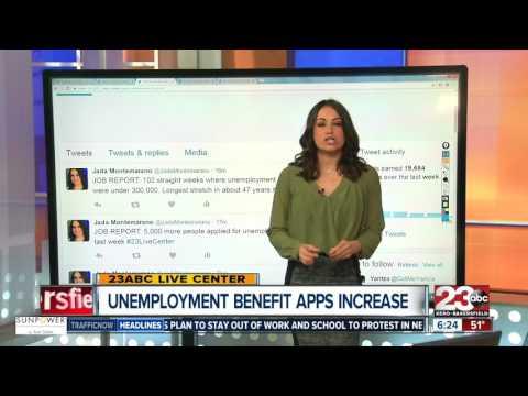 Unemployment benefit apps increase