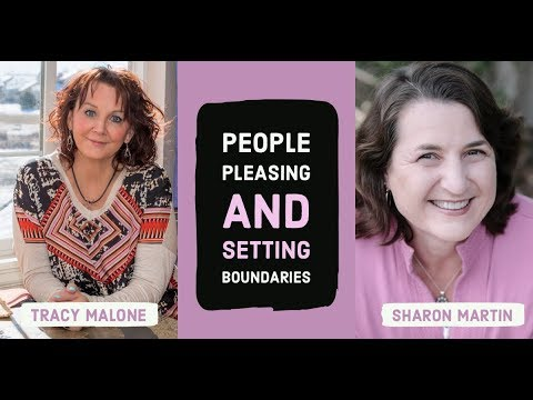 People pleasers have trouble setting boundaries with narcissists - Boundaries author Sharon Martin