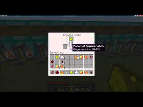 Minecraft - How To Make All Potions 1.2.5(EASY TUTORIAL)