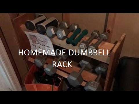 Homemade Dumbbell Rack