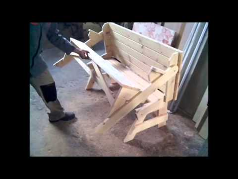 Bench Picnic Table DIY