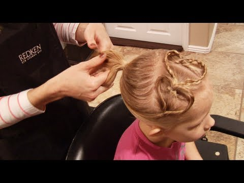 Hair Tutorial// Cute Heart Hairdo // Valentines Day Hair