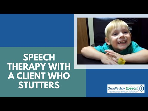 Speech therapy with a client who stutters
