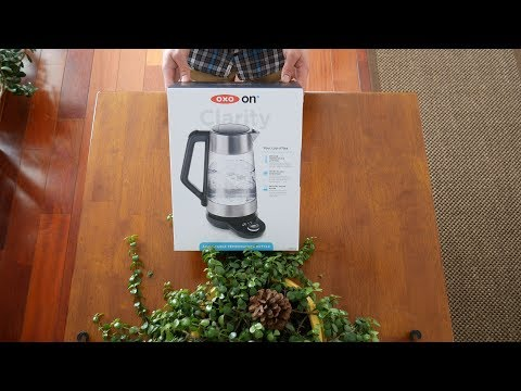 OXO on Clarity Adjustable Temperature Kettle - Unboxing and Overview in 4K - Contains Plastic