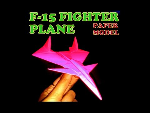 How to make a paper plane- F15 Eagle Jet Fighter paper plane.