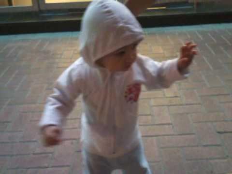 Teaching baby to walk