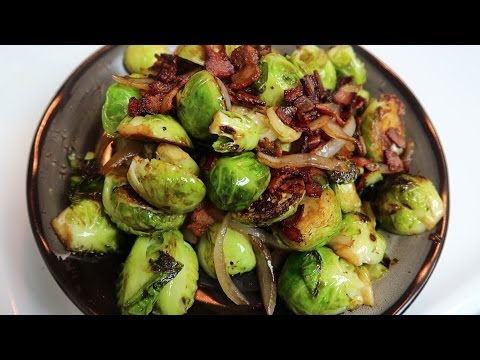 Easy Brussel Sprouts with Bacon and Balsamic Vinegar - Side Dish Recipe