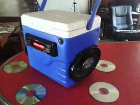 MY PORTABLE CAR STEREO COOLER BOOMBOX