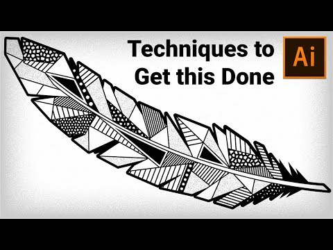 How to draw Geometric Feather in Adobe Illustrator | Illustrator Tutorial