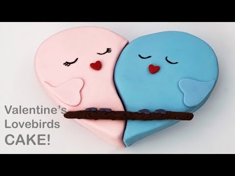 VALENTINE'S Lovebirds CAKE!