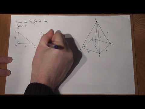 Grade 8 Essential GCSE maths revision: 3D trigonometry Pyramids and Pythagoras