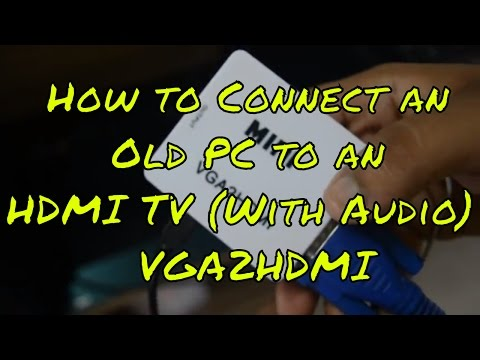 CONNECT OLD COMPUTER TO HDMI TV SCREEN | VGA2HDMI | VGA To HDMI | TECH HACKS