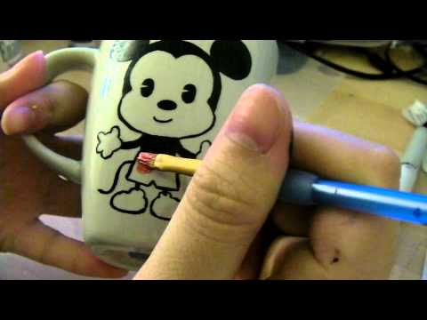 DIY mug painting.