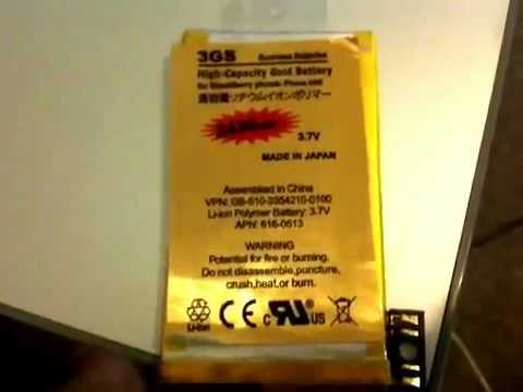 Beware FAKE High Capacity Gold Battery for iPhone 3GS Claiming To Be Replacment 2430mAh Review!