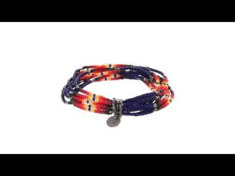 Chan Luu Multi Strand Stretch Seed Bead Bracelet SKU:8573703