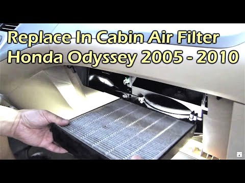 Honda Odyssey Replace In Cabin Air Filter (2005 - 2010)