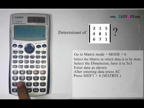 Solve Determinant using Calculator