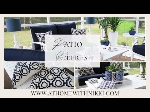 SMALL SPACE DECORATING | PATIO REFRESH