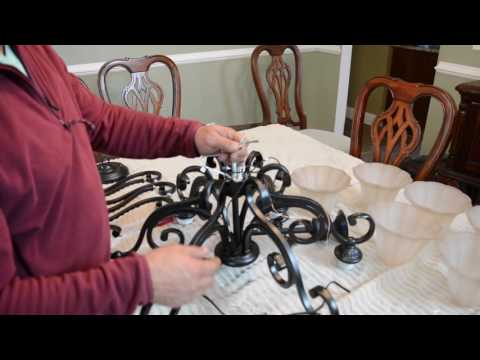 How to put a chandelier together and install