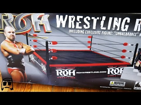 ROH Wrestling Ring Figure Toy Company Playset Unboxing, Construction & Review!!