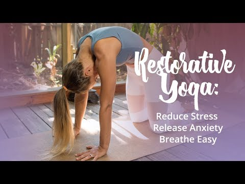 Restorative Yoga Practice for Anxiety and Stress (breath easy with me)