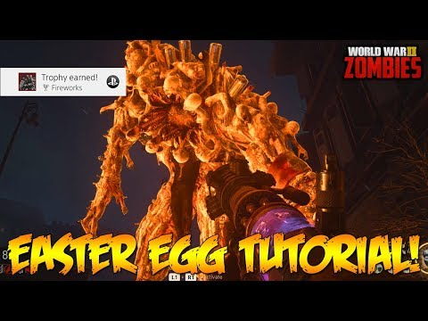 WW2 ZOMBIES - FULL MAIN EASTER EGG GUIDE TUTORIAL/WALKTHROUGH! (Call of Duty WW2 Zombies)
