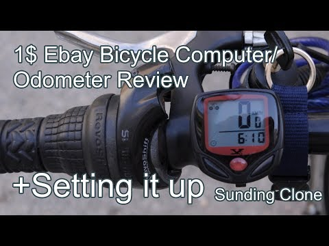 1$ Ebay Bicycle Computer/Odometer Review and Install | Sunding Clone