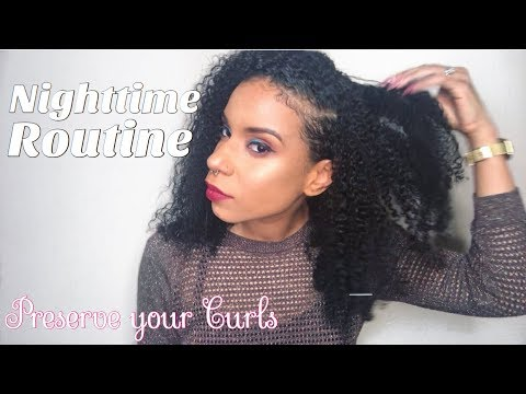 How I Preserve My Curls (Low Pony Method) NIGHTTIME ROUTINE