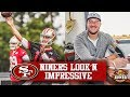 49ers OTAs Jimmy Garoppolo Rolling Right Along With Offense Joe Staley Signs Two Year Extension