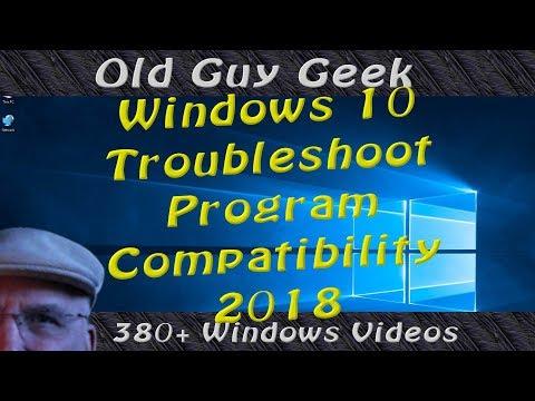 Window 10 - No Compatibility Tab? The 2018 Fix.