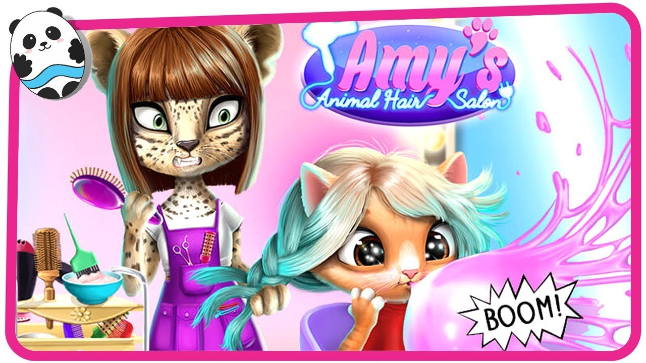Fun Animals Care & Pet Makeover - Amy's Animal Hair Salon - Dress Up Game for Kids and Children