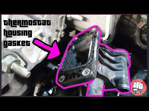 THERMOSTAT HOUSING GASKET 1.5 FORD FIESTA DIESEL DURATORQ-  COOLANT LEAK- how to replace
