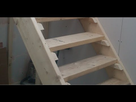 How to build Stairs. Easy steps DIY staircase