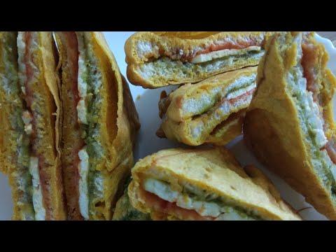 Tasty Paneer bread pakoda with palak pyaas ke pakode recipe