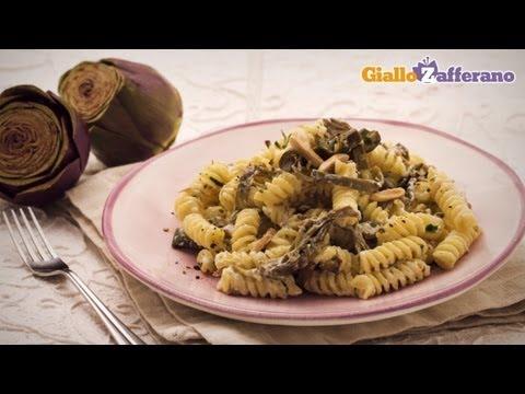 Goat cheese and artichoke pasta - quick recipe
