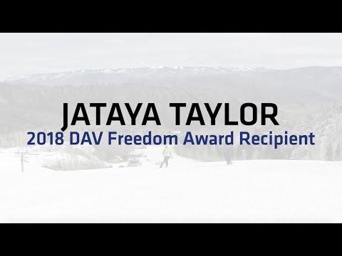 Jataya Taylor earns 2018 DAV Freedom Award