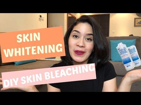 DIY skin bleaching I whiten FAST with Hydrogen Peroxide!