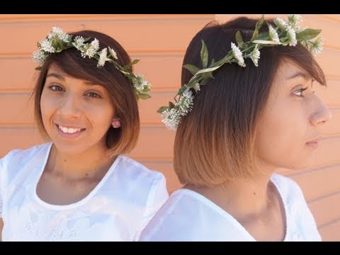 D.I.Y Floral Head Wreath